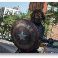 Sebastian Stan AKA Bucky Barnes dans un making off de Captain America