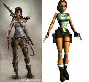 Lara Croft 2013 VS 1996