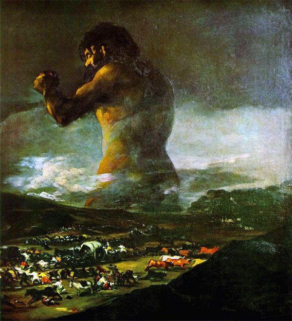 Peinture Le colosse