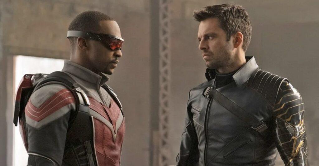 Sam et Bucky dans Falcon et le Soldat de l'Hiver