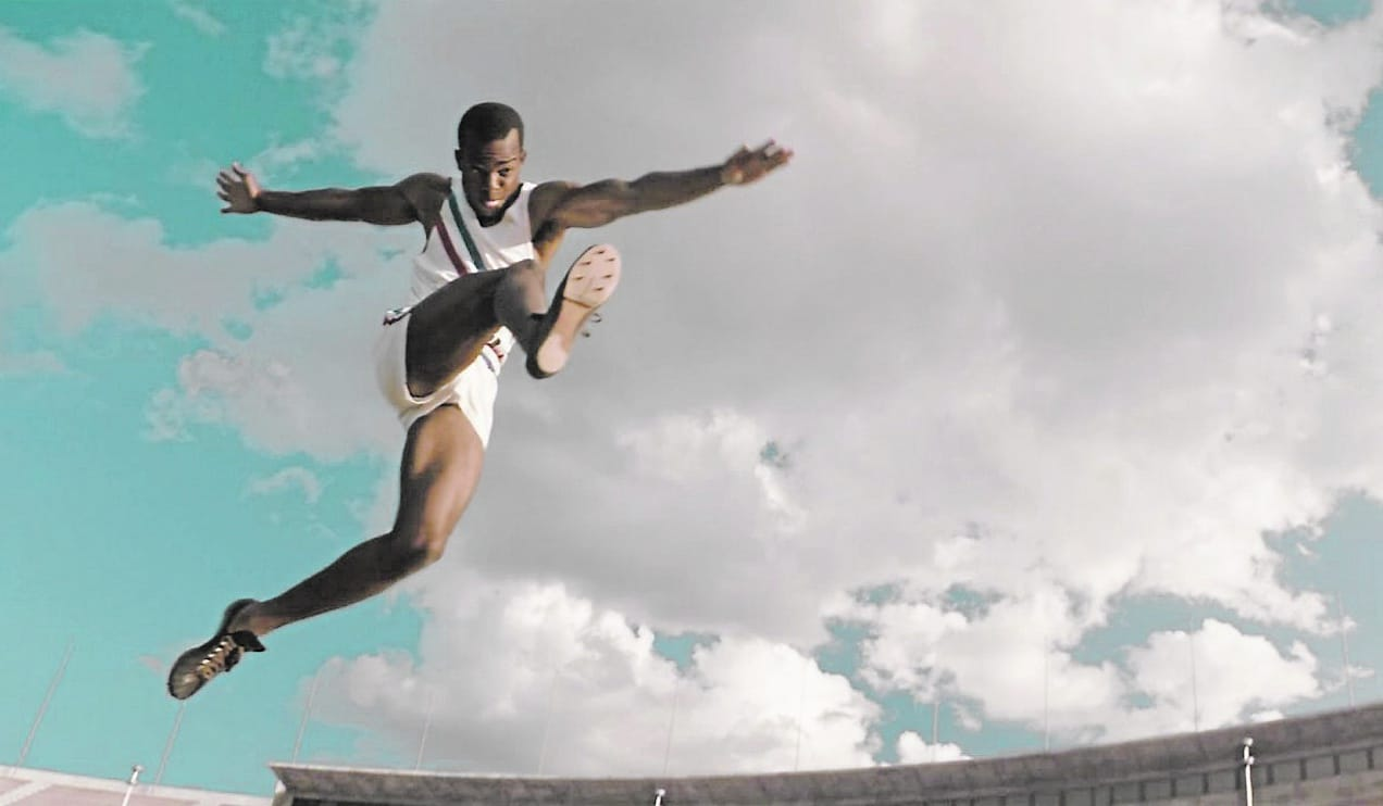 "Stephan James is the high-flying Jesse Owens in ""Race."" (Courtesy of Universal Pictures)"