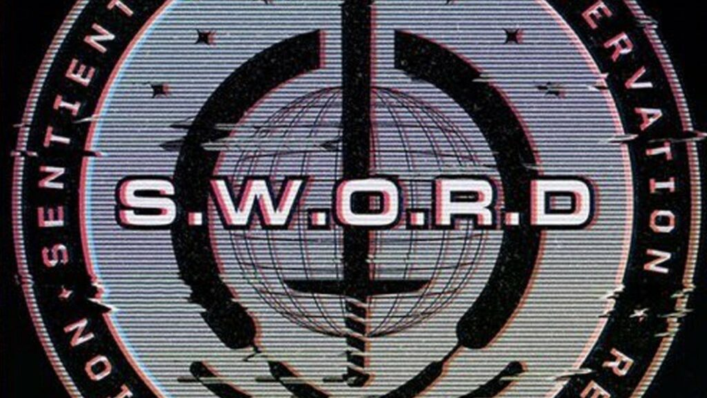 Le logo de l'agence S.W.O.R.D que l'on voit dans WandaVision